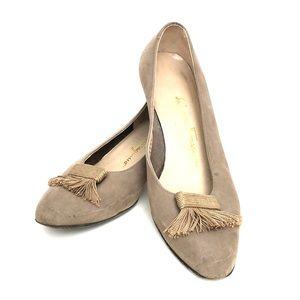 Ferraganno Neutral heels with tassels from Itally